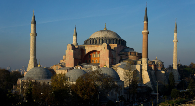Hagia Sofia in evening light